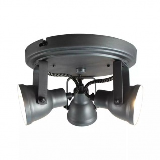 LABEL51 LED-Spot mit 3 Strahlern Max 21x21x14 cm Grau