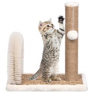 vidaXL Katzenbaum mit Fellpflegebogen und Kratzsäule