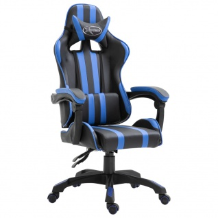 vidaXL Gaming-Stuhl Blau PU