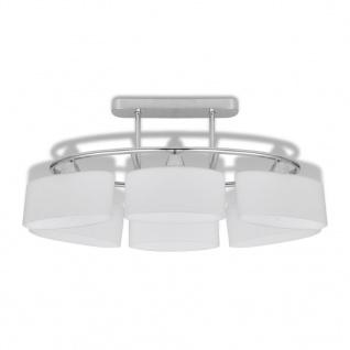 vidaXL Deckenlampe mit ellipsenförmigen Glasschirmen 4 Stk. E14 - Vorschau 5