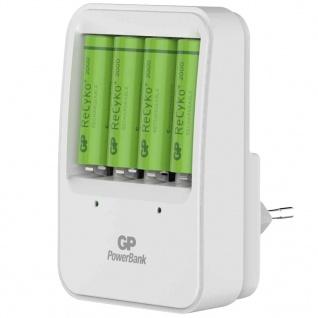 GP Akku-Ladegerät PB420 mit 4 Batterien 130420GS200AAHCC4