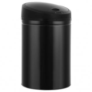 vidaXL Automatischer Sensor-Mülleimer 32 L Schwarz