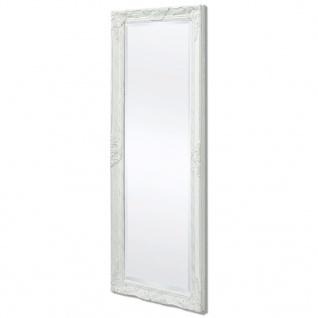vidaXL Wandspiegel im Barock-Stil 140x50 cm Weiß