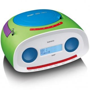 Lenco Portables DAB+ Radio mit CD-/MP3-Player SCD-69 Grün