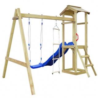 vidaXL Spielturm mit Rutsche Leitern Schaukel 242 x 237 x 218 cm Holz - Vorschau 3