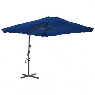 vidaXL Sonnenschirm mit Stahlmast Blau 250x250x230 cm