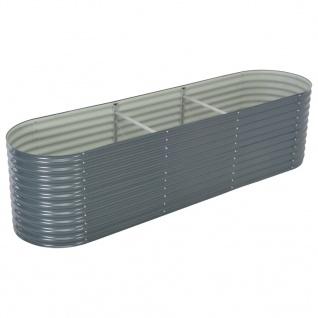 vidaXL Garten-Hochbeet 320x80x81 cm Verzinkter Stahl Grau