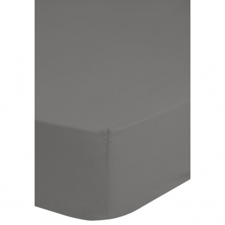 Emotion Bügelfreies Spannbettlaken 180x200 cm Grau 0220.03.46