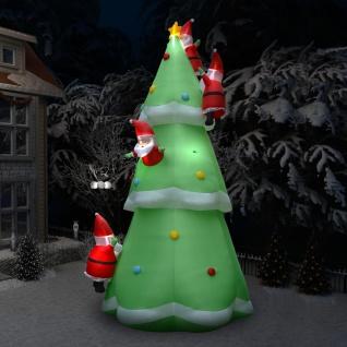 vidaXL Aufblasbarer Weihnachtsbaum mit Weihnachtsmännern LED 500 cm