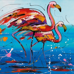 Madison Outdoor Leinwand-Bild Flamingo 79 x 79 cm SCH1G204