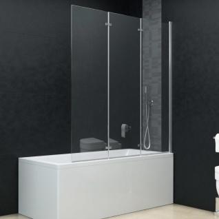 vidaXL Faltbare Duschkabine 3 Paneele ESG 130 x 138 cm