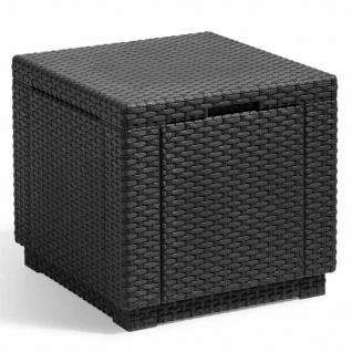 Allibert Cube Sitzhocker mit Stauraum Graphitgrau 213816