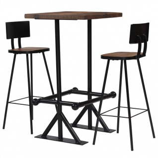 vidaXL Bar-Set 3-tlg. Massives Altholz