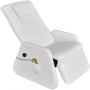 Vidaxl Elektrischer Massagesessel Zero Gravity Kunstleder Weiß