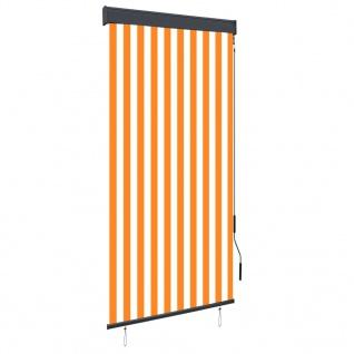 vidaXL Außenrollo 100 x 250 cm Weiß und Orange