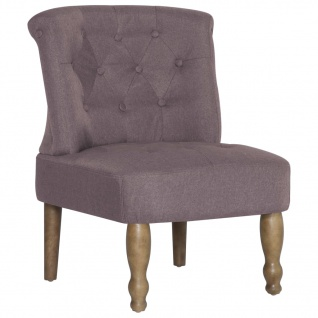 vidaXL Französische Stühle 2 Stk. Taupe Stoff - Vorschau 3