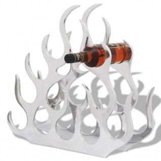 vidaXL Flaschenregal für 11 Flaschen Silbern Aluminium