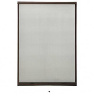 vidaXL Insektenschutzrollo für Fenster Braun 110x170 cm