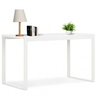 vidaXL Computertisch Weiß 120x60x73 cm