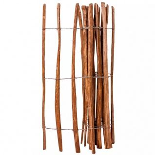 vidaXL Holz-Lattenzaun Haselnussholz Imprägniert 120 x 250 cm