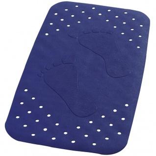 RIDDER Badewanneneinlage Antirutschmatte Plattfuß 72×38 cm Blau 67063
