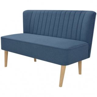 vidaXL Sofa Stoff 117 x 55, 5 x 77 cm Blau