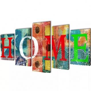 "Bilder Dekoration Set "" Home"" mehrfarbig 100 x 50 cm"