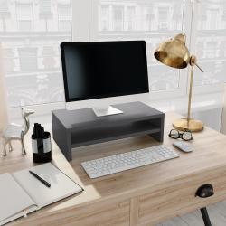 vidaXL Monitorständer Grau 42×24×13 cm Spanplatte