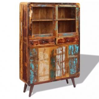 vidaXL Sideboard Recyceltes Massivholz 120x38x180 cm