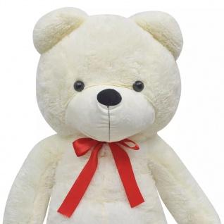 XXL Weicher Plüsch-Teddybär Weiß 150 cm - Vorschau 4