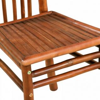 vidaXL Esszimmerstühle 4 Stk. Bambus 43 x 56 x 98 cm Braun - Vorschau 4