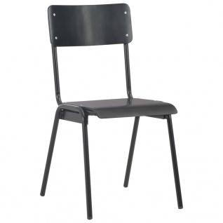 vidaXL Esszimmerstühle 4 Stk. Schwarz Massives Sperrholz Stahl - Vorschau 3