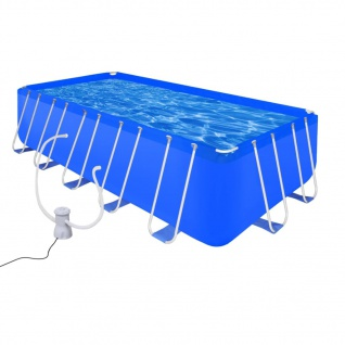 Schwimmbad Pool Rechteckig 12945 L + Filterpumpe