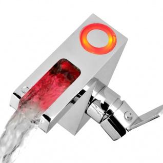 SCHÜTTE Mischbatterie mit LED und Wasserfall-Auslauf ORINOCO Verchromt - Vorschau 3