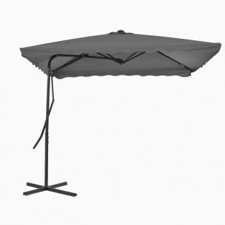 vidaXL Sonnenschirm mit Stahl-Mast 250×250 cm Anthrazit