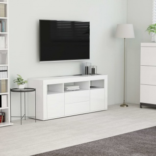 vidaXL TV-Schrank Weiß 120x30x50 cm Spanplatte