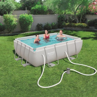 Bestway Power Steel Swimmingpool-Set Rechteckig 282×196×84 cm 56629