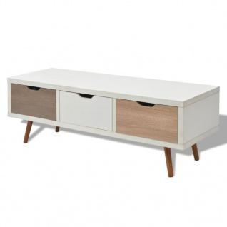 vidaXL TV-Schrank mit 3 Schubladen 120 x 39 x 39 cm Weiß