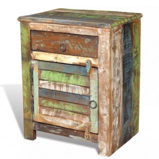 vidaXL Nachtschrank mit 1 Schublade Recyceltes Holz