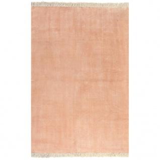 vidaXL Kelim-Teppich Baumwolle 160x230 cm Rosa