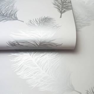 Dutch Wallcoverings Tapete Fawning Feather Hellgrau - Vorschau 5