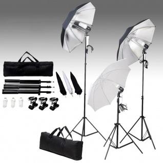 vidaXL Studiobeleuchtung-Set 24 Watt Stative & Schirme