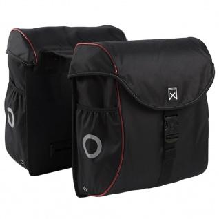 Willex Fahrradtaschen 38 L Schwarz und Rot 16105
