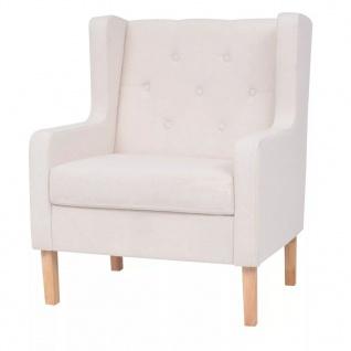 vidaXL Sessel Cremeweiß Stoff