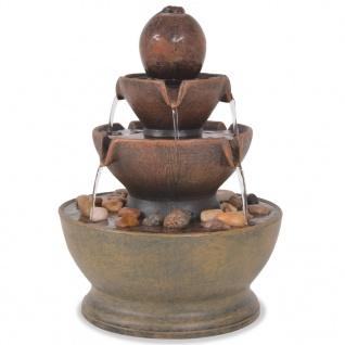 vidaXL Zimmerbrunnen mit Pumpe Polyresin
