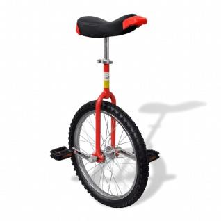 Einstellbares Einrad 50, 8 cm rot - Vorschau 1