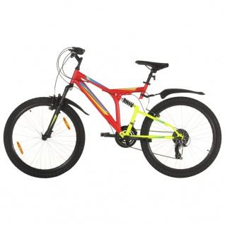 vidaXL Mountainbike 21 Gang 26 Zoll Rad 49 cm Rot
