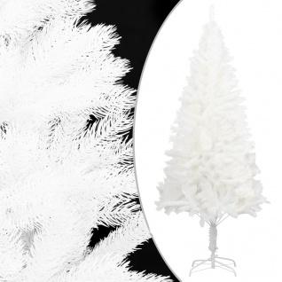 vidaXL Künstlicher Weihnachtsbaum Naturgetreue Nadeln Weiß 210 cm