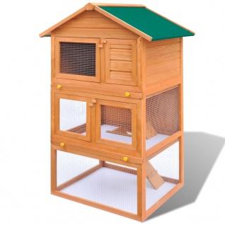 Kaninchenstall Kleintierhaus Hasenstall 3 Ebenen Holz