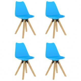 vidaXL Esszimmerstühle 4 Stk. Blau